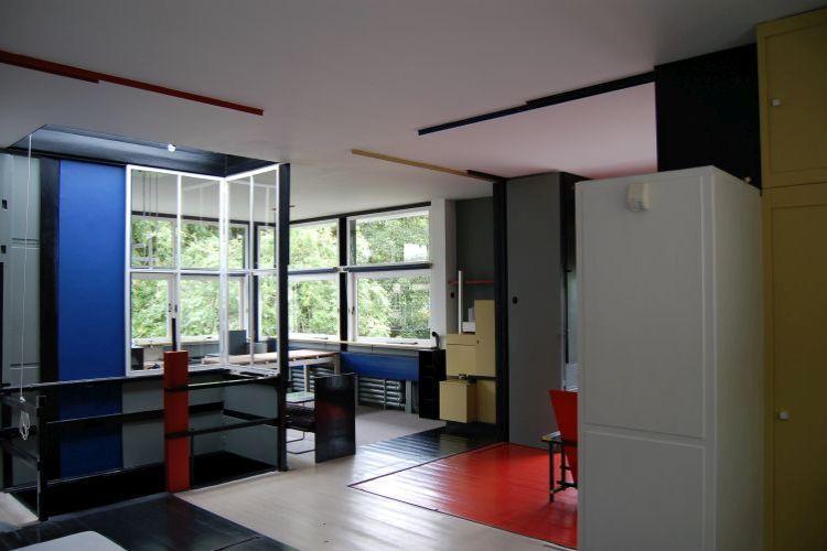 Wvau architecten interieur rietveld schr derhuis - Interieur van huis ...